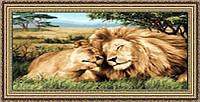 Картина гобеленовая Любовь царей 100х70см в багетной раме G314