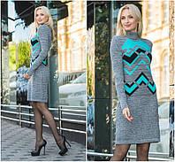 Платье женское вязаное в расцветках  25994, фото 1