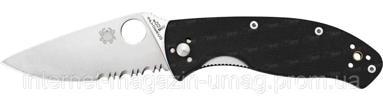 Нож Spyderco Tenacious, полусеррейтор