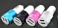 04-01-003. АЗУ 1-2,1A (2 гнезда USB), гильза, корпус пластик-металл, разноцветные
