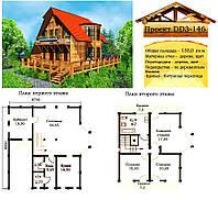 Проект каркасно-щитового дома 133 м2. Проект дома бесплатно при заказе строительства
