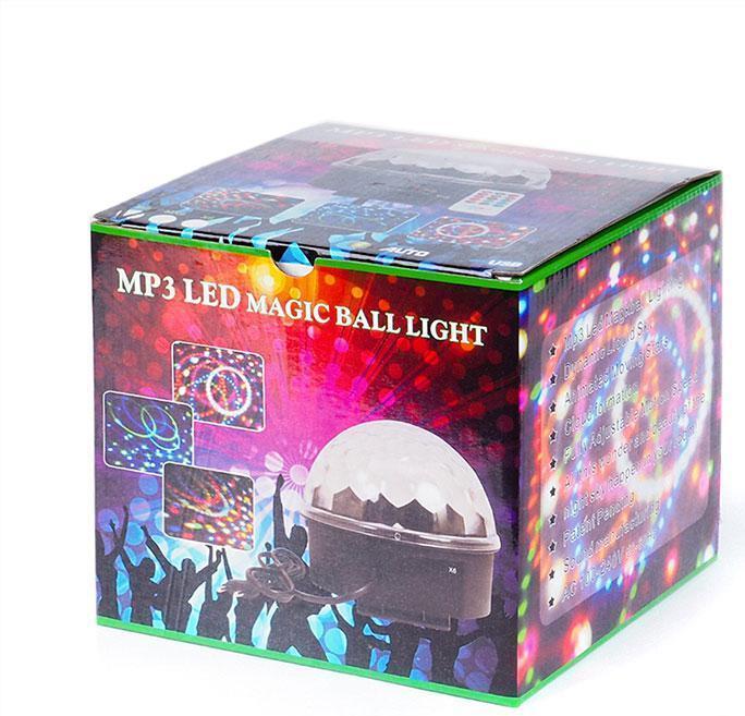 Светодиодный Диско Шар Mp3 led Bluetooth magic ball light + пульт, флешка
