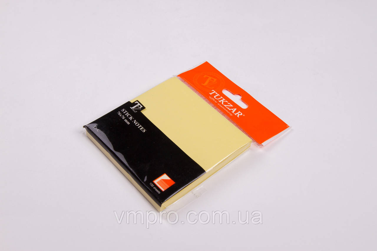 Блок клейкий Tz-C 76*76 mm-100 листов, бумага для заметок