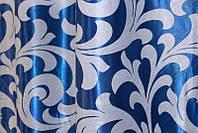"Двусторонняя ткань блэкаут ""Вензель"". Высота 2,8м. Цвет синий. 097ш, фото 1"