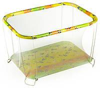 Манеж детский игровой KinderBox классический Губка Боб с мелкой сеточкой (kmk 200)
