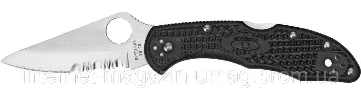 Нож Spyderco Delica 4, полусеррейтор