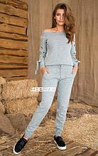 Женский спортивный костюм, шерсть + акрил, р-р универсальный 42-46 (серый)