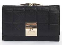 Маленький надежный женский кожаный кошелек высокого качества SALFEITE art. 2103-YF2 черный, фото 1