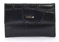 Стильный шикарный небольшой женский кошелек высокого качества под рептилию SALFEITE art. 2619T-E96 черный, фото 1