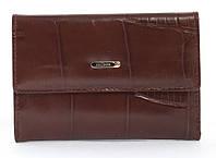 Стильный шикарный небольшой женский кошелек высокого качества под рептилию SALFEITE art. 2619T-E98 коричневый, фото 1