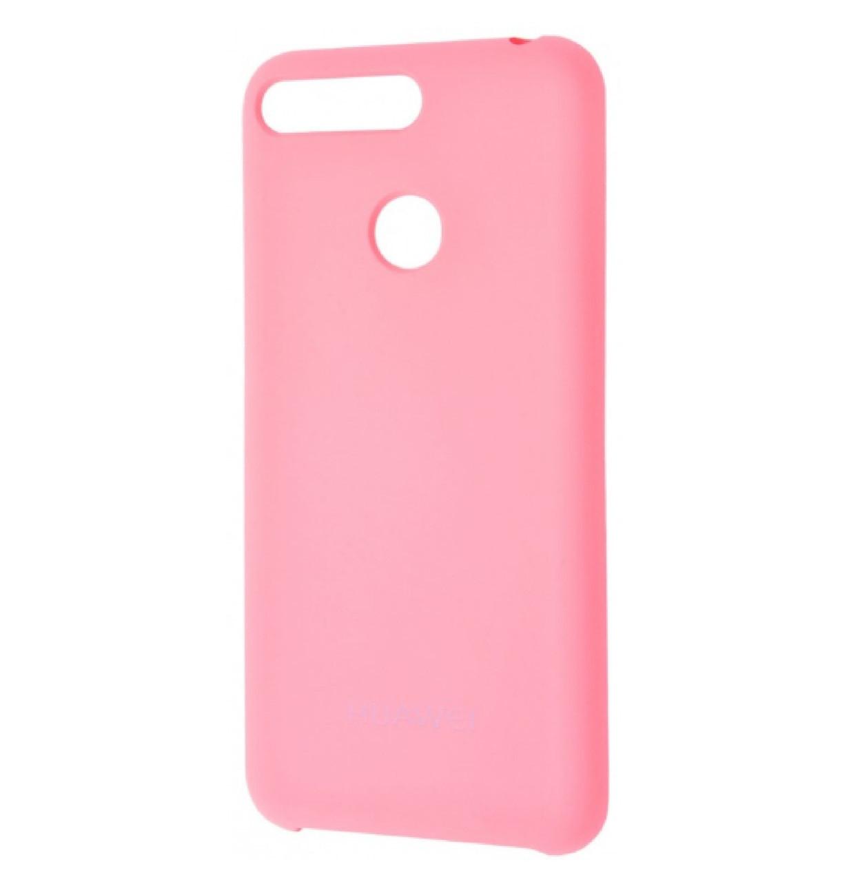 Чехол-накладка Original Silicone case для Huawei Y7 Prime 2018 / 7C Pro / Enjoy 8 Pink