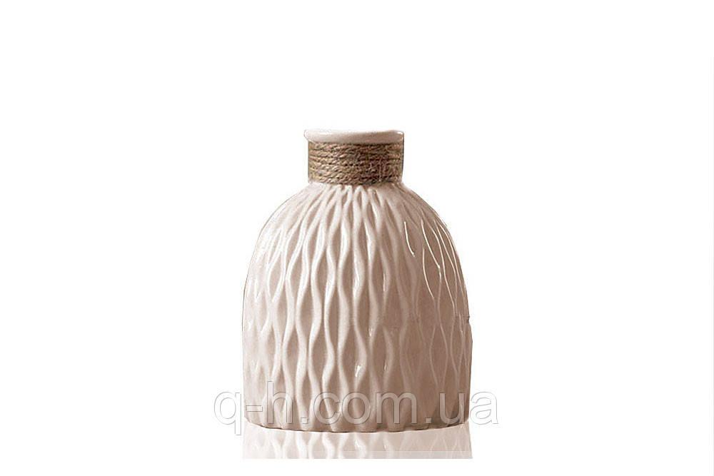Ваза из керамики для цветов или декора 13,5*13,5*18 см Алхимия (MC 2804-18)