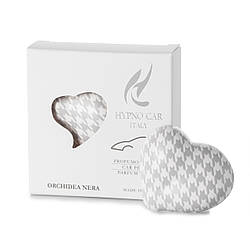 Парфюм для авто Сердце - серый принт, аромат ORCHIDEA NERA  Hypno Casa