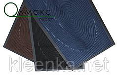 Придверный коврик 45*75 см Спираль черная, фото 2