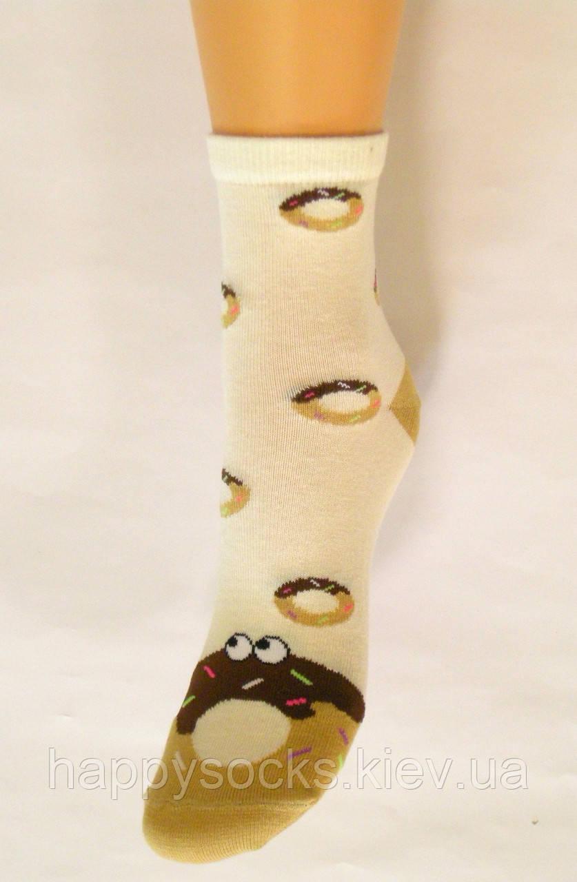 Цветные детские хлопковые носки в пончики