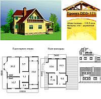 Проект дома из профилированного бруса 118,5 м2. Проект дома бесплатно при заказе строительства