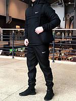 Мужской КОМПЛЕКТ черный анорак Intruder, штаны President + Барсетка в подарок! топ реплика
