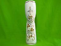 Керамическая настольная ваза «Сетка Роксен» (лепка)