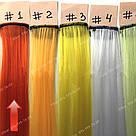 Волосы на заколках цветные мини трессы, оранжевые, фото 3
