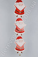 """Гирлянда новогодняя с бубенцом """"Санта Клаус"""", вертикальная, 90 см"""
