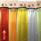 Ярко оранжевые цветные пряди на заколках, фото 3