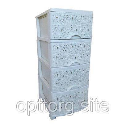 Комод ажурный 37,5х45,5х90 см Elif Plastik 293
