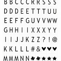 Дополнительный набор букв для лайтбокса