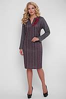 Повседневное  платье Леда бордо, фото 1