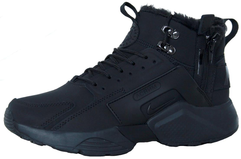 65c31a38 Мужские зимние кроссовки Nike Huarache x Acronym City Winter Black ...