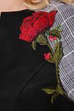 Платье Леда черное экозамш, фото 4