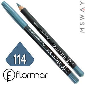 FlorMar - Карандаш для глаз водостойкий Тон №114 aqua marine перламутр
