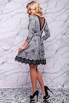 Женское расклешенное платье в клетку (3015 svt), фото 3