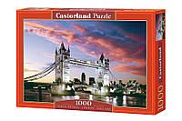 """Пазлы Castorland на 1000 элементов. """"TOWER BRIDGE. Лондон"""". Гарантия качества. Быстрая доставка. Польша."""