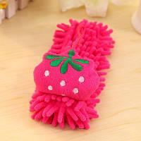 Детское полотенце-игрушка из микрофибры, клубника
