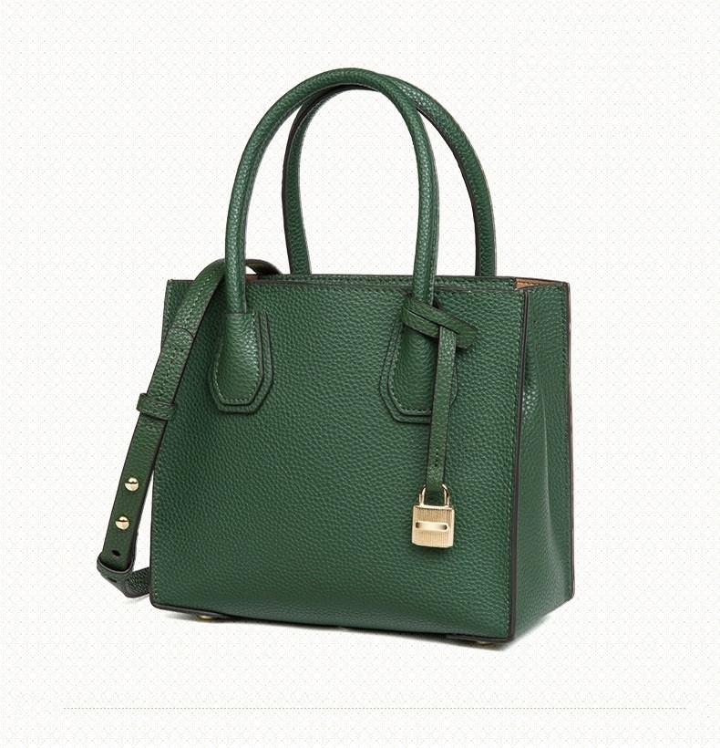 a3522a0a836d Женская сумка кожаная с брелком-замочком зелёная опт купить по ...