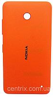 Задняя крышка для Nokia 630 Lumia Dual Sim, оранжевая