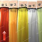 Помаранчеві пряді штучного волосся на кліпсах, кольорові, фото 3