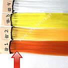 Помаранчеві пряді штучного волосся на кліпсах, кольорові, фото 4