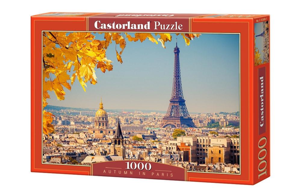 """Пазлы Castorland 1000 элементов - """"Осень в Париже"""". Быстрая доставка. Производство Польша."""