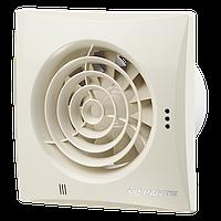 Вентс Квайт 100 Винтаж, Оборудован шнурковым выключателем, регулируемым таймером задержки отключения (от 2 до 30 минут) и датчиком влажности (порог