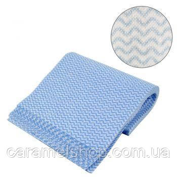 Салфетки полотенца одноразовые Украина 40х40 см, волна (50 шт)