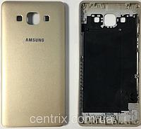 Задняя крышка для Samsung A700H Galaxy A7 (2015), A700F, золотистая