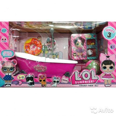 Кукла LOL с ванной ТМ923