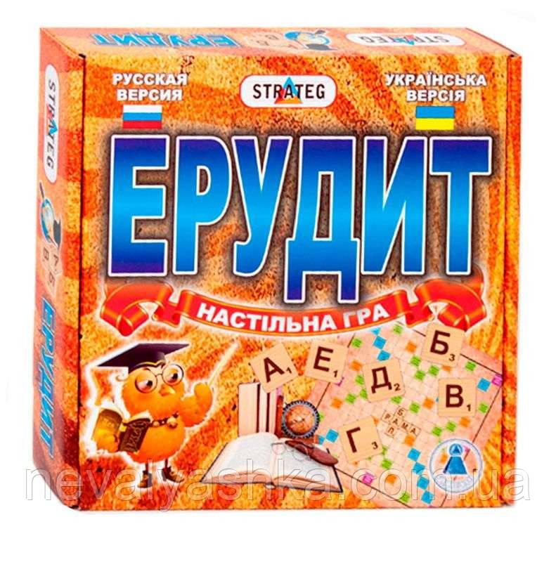Настольная Игра Эрудит, Стратег STRATEG УКР, 870, 000504