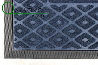 Придверная дорожка от грязи с рельефным рисунком  40*60 см синяя, фото 2
