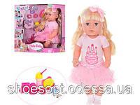 Лялька пупс Baby Мила сестричка інтерактивний, взуття, пляшечка, гребінець