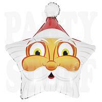 Фольгированный шарик Звезда Санта Клаус, 52 см