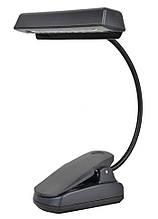 Портативний світильник-лампа з кліпсою 10 LED/діодів чорний