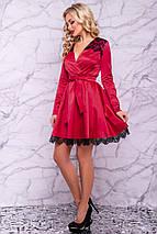 Женское атласное платье с гипюром (3018-3016-3017-3019 svt), фото 3