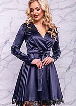 Женское атласное платье с гипюром (3018-3016-3017-3019 svt), фото 2